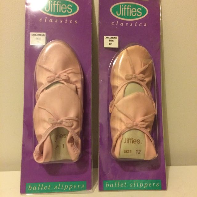 Jiffies Ballet Slippers (Size 12 & Size 1)