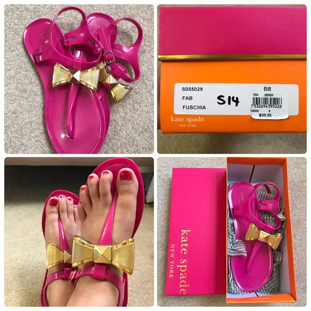 Kate Spade Bow Jelly Sandals