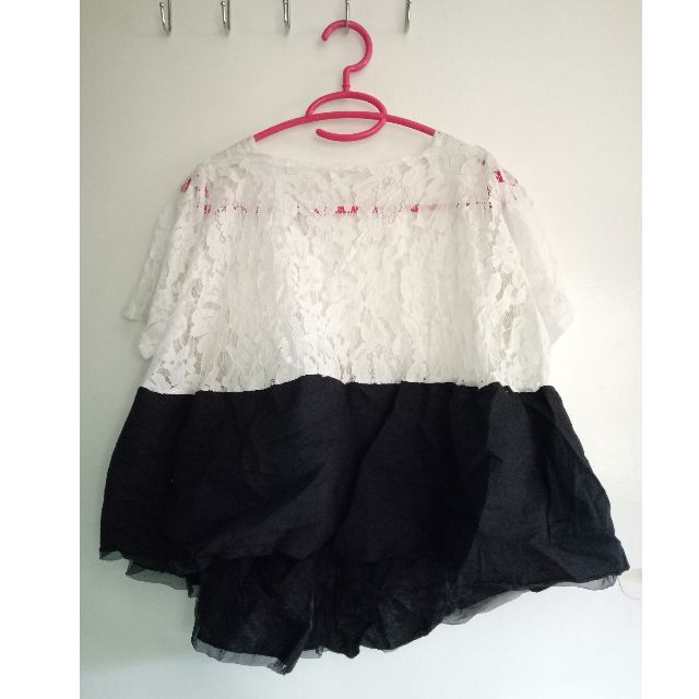 Laced Long Back Blouse