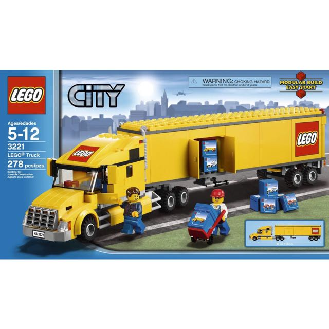 Lego 3221 City Yellow Container Truck Toys Games Bricks