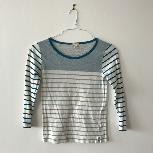 Light Blue Striped Shirt With Sleeves