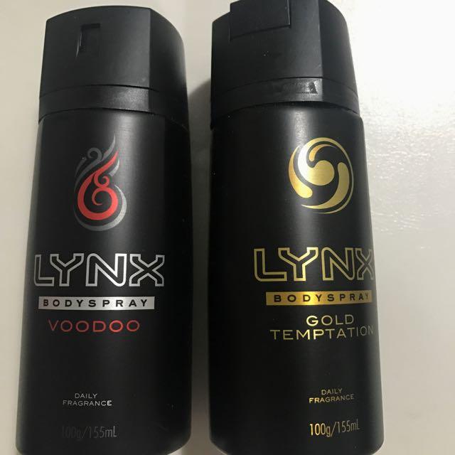 Lynx Body Sprays - Gold Temptation & Voodoo