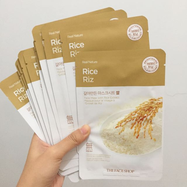 New! The Face Shop - Rice mask
