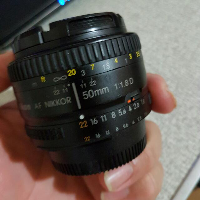 Nikon 50/1.8 D lens  only lens