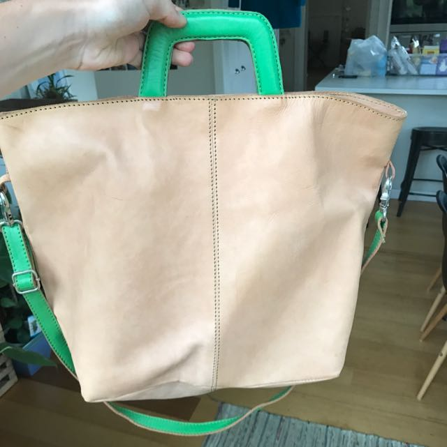 Nude Leather Handbag