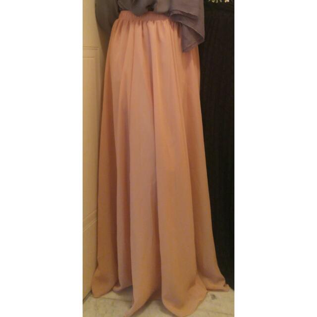 Nude/ Peach Maxi Skirt