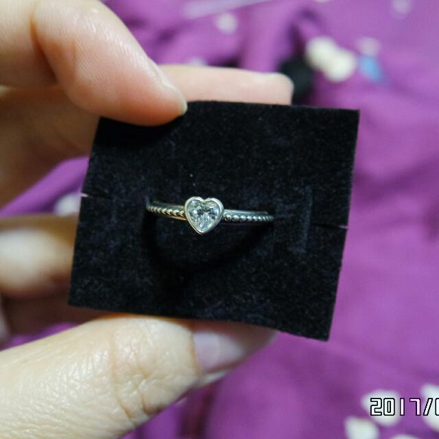 PANDORA 愛心鑽戒指