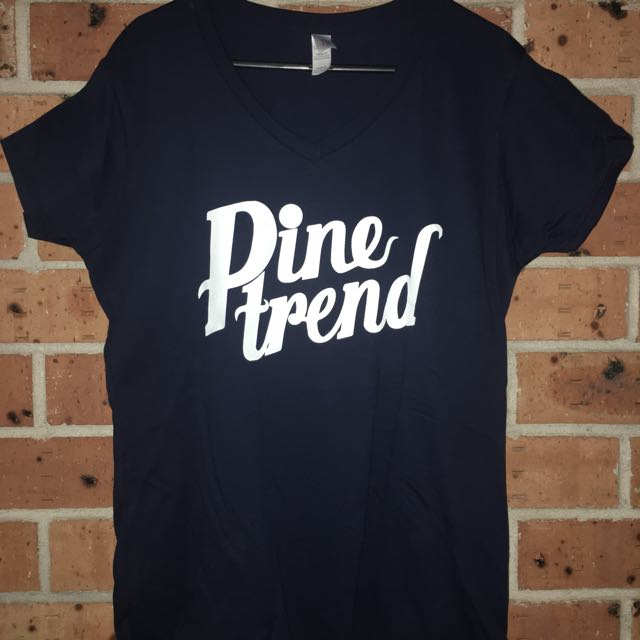 Pine Trend Ladies Navy Tshirt