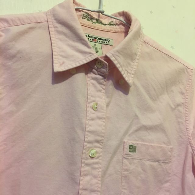 正牌Polo粉紅襯衫