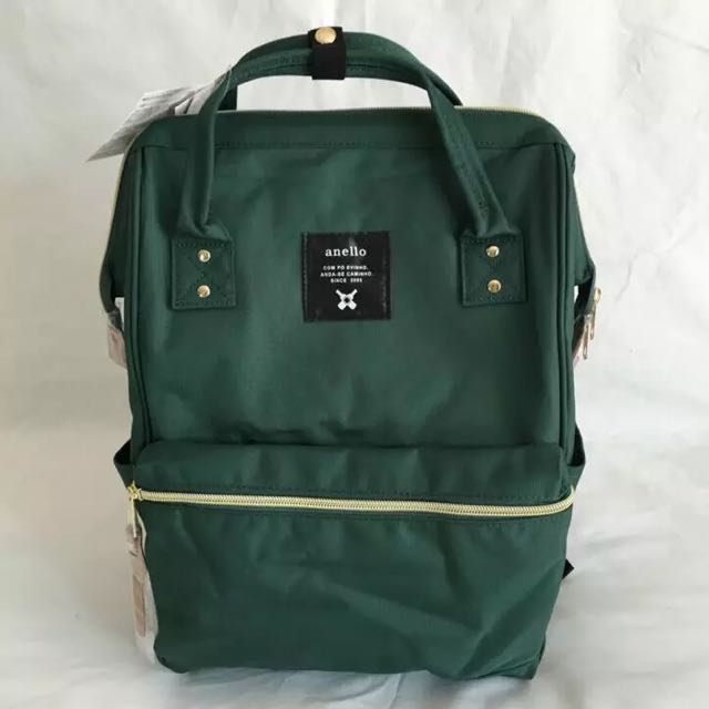 7afc8419d86 Preorder: Anello Dark Emerald Green Polyester Backpack, Bulletin ...