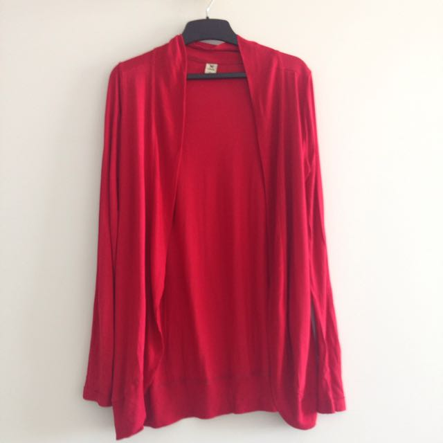Red Cardigan Size S