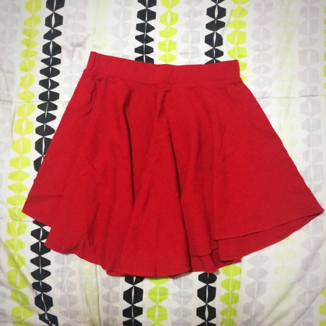Red Stretchable Skirt