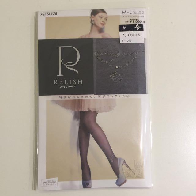 日本Relish 愛心腳鍊黑絲襪