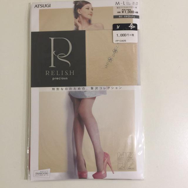 日本Relish 小花水鑽絲襪