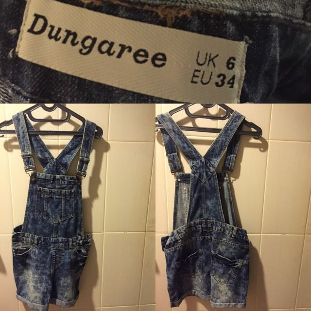 Short Denim Overalls (size:34)