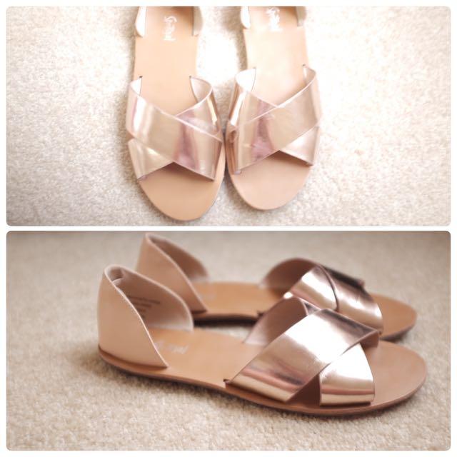 Sportsgirl Slip On Rose Gold Shoes