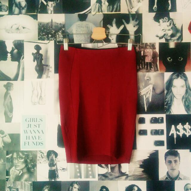 STRADIVARIUS Maroon Skirts