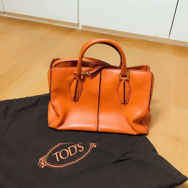 二手正品Tod's手提/肩背包 橘色