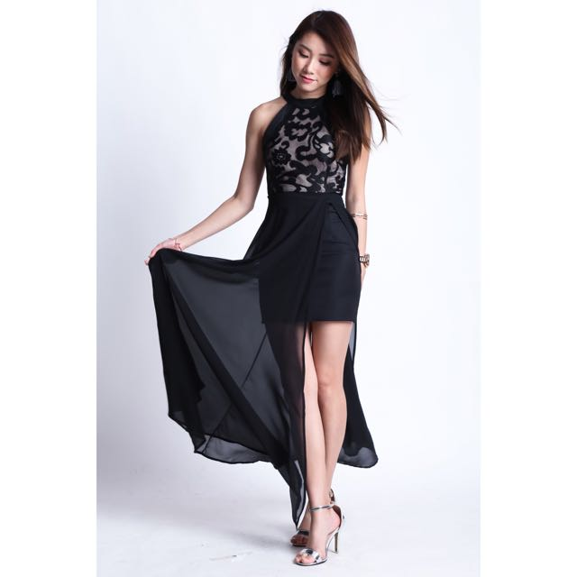 66cd2ad5a9d57 Topazette (premium) Topaz Twilight Maxi In Black, Women's Fashion ...