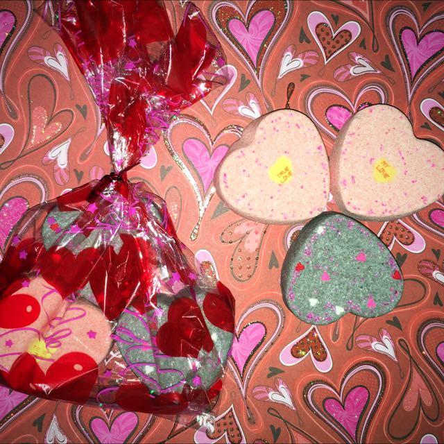 Valentine's Heart Bath Bombs