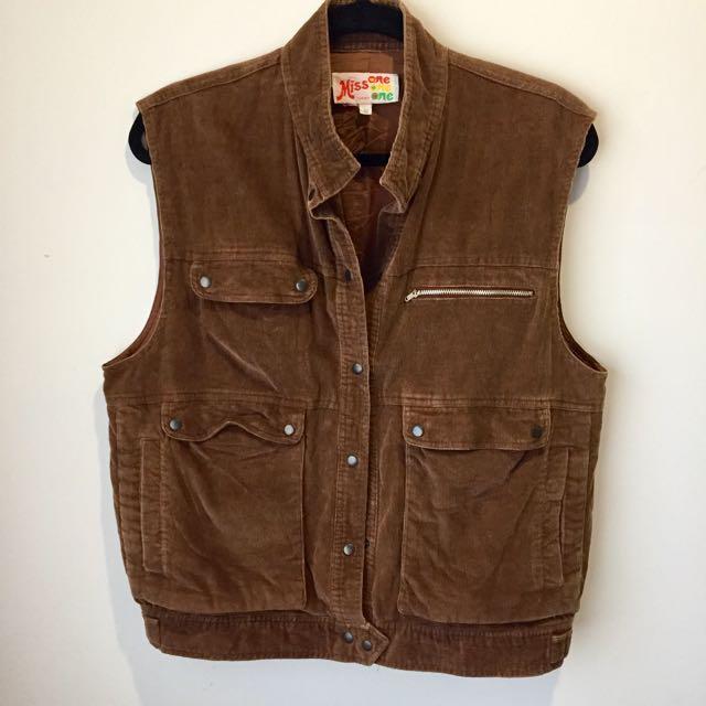 SIZE 12 Vintage Corduroy Vest