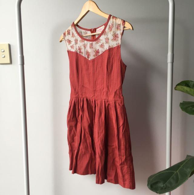 Vintage Size S Skater Dress