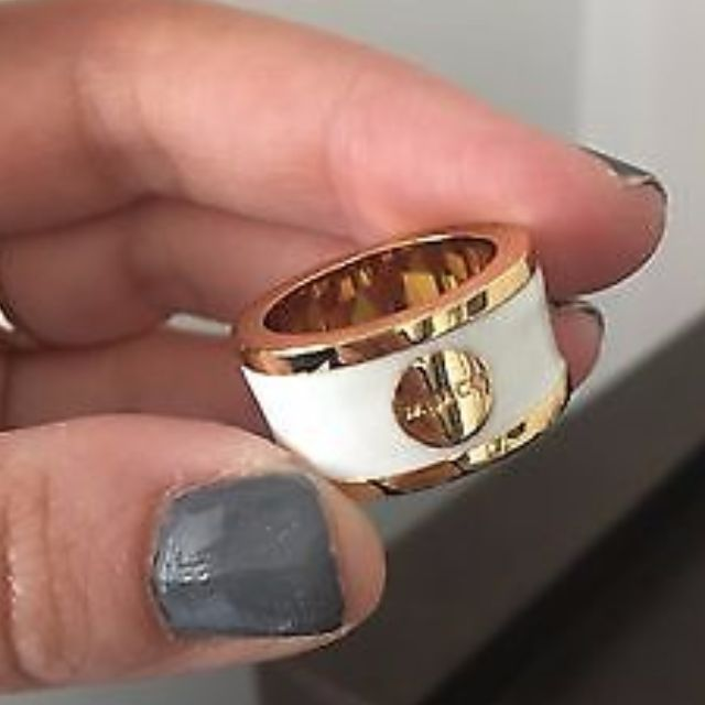 White and Gold Mimco Ring