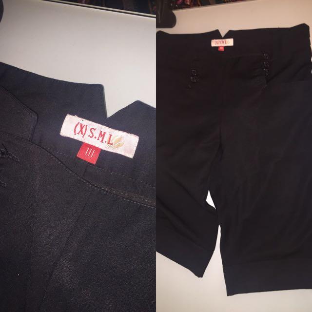 XSML Buttoned Up Pants (size:M)