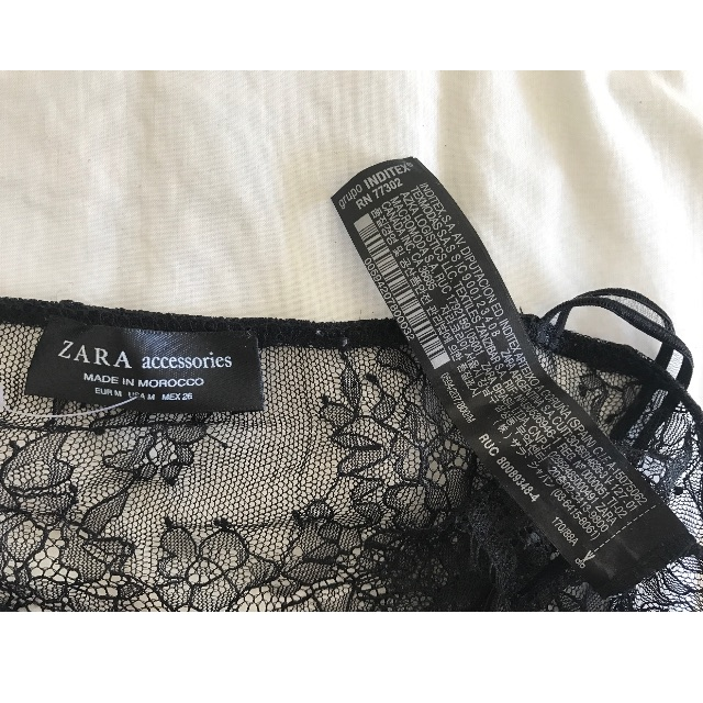 Zara, lace bralette, new, size M/ AU 8-10, black