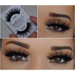 NEW INSTOCK RED Cherry Eyelashes 102 Chakra