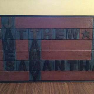 """Custom Wooden 'Family"""" Signs."""