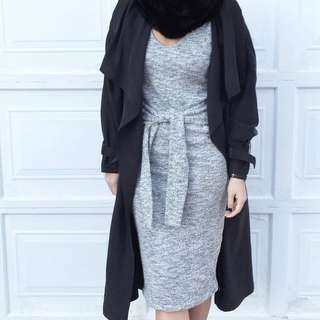 Zara Long Black Trench Coat