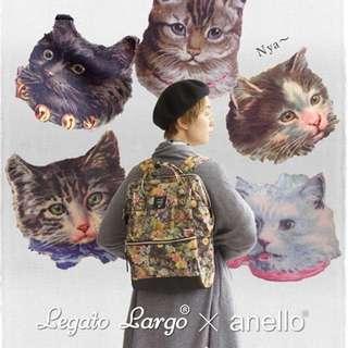 ANELLO & LEGATO LARGO 合作貓咪限量款後背包(限量款)