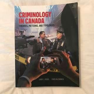 Criminology In Canada