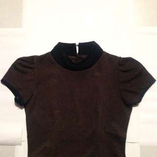 Dark Brown Top