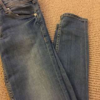 H&M Super Skinny Light Wash Jeans 25/30