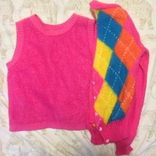 Angora Pink Sweater Ser