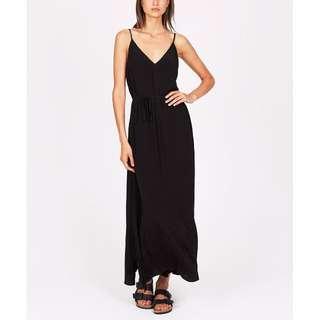 Neon Hart TIE BACK CREPE MAXI DRESS BLACK