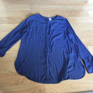 Navy Blue Work Blouse $2