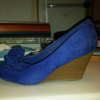 Royal Blue Suede Wedge From Payless