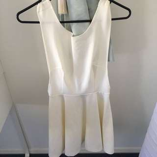 "White ""Paper Heart"" Dress"