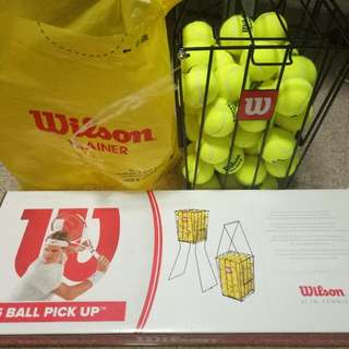 Wilson Tennis Ball Trainer And Ball Basket
