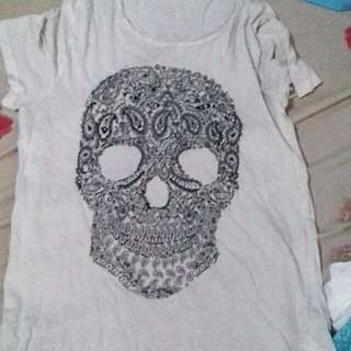 H&m Skull Tshirt