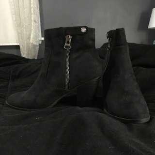 High Heel Suede Booties