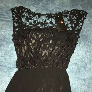 Black Silk Formal Dress