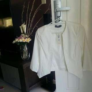 Temt White Blazer Jacket