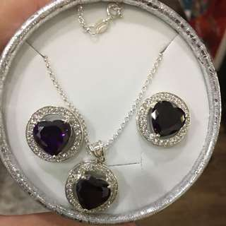 Set Earrings and Necklace with Pendant