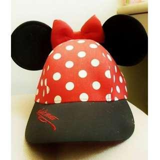 [全新] 美國迪士尼樂園帶回 米妮耳朵造型遮陽帽 Minnie 鴨舌帽