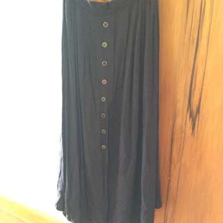 Navy Blue 3/4 Length Skirt Size 12 UK