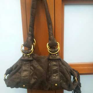 Ninewest Hobo Bag with Frill Details